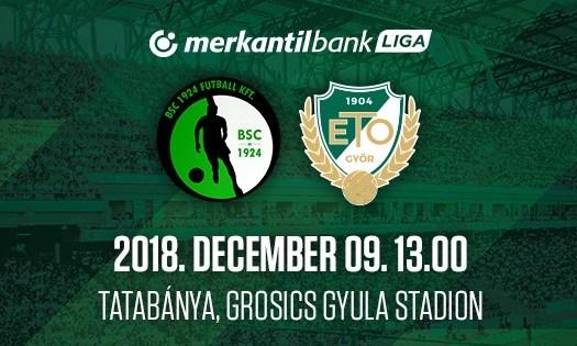 Ma 13 órakor Budaörs – WKW ETO FC Győr