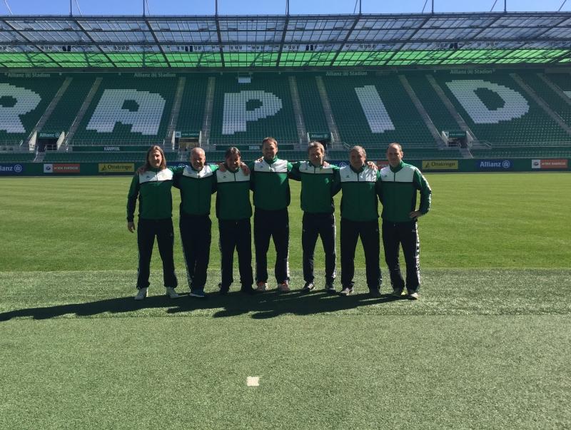 Szakmai látogatás a Rapid Wien csapatánál