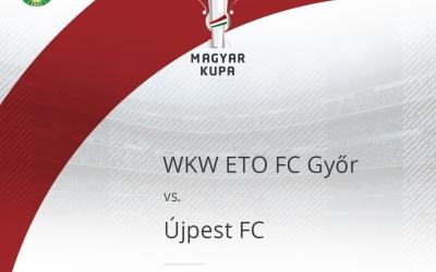 Jegyvásárlási és beléptetési tájékoztató az ETO-Újpest kupamérkőzésre